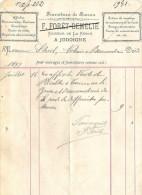 Facture : F Foret-Demelie à Jodoigne Fournitures De Bureau Affiches Lettres De Mariage - Printing & Stationeries