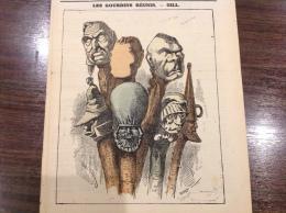 1870 Journal L��CLIPSE - LES GOURDINS R�UNIS  Par GILL - UN MOT A L�OREILLE Par LADREYT