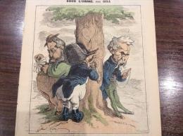 1871 Journal L��CLIPSE - SOUS L'ORME Par GILL - �TUDE SUR LA CORSE - LE NOUVEAU CONSEILLER G�N�RAL DE LA CORSE
