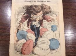 1871 Journal L��CLIPSE - L'ECLIPSE ET LA CENSURE Par GILL