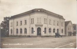 Sunne Sweden, Bank Building, Wermlandsbanken, Canteen Matsalar, Street Scene, C1910s Vintage Real Photo Postcard - Zweden