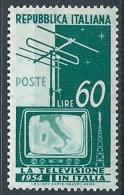 1954 ITALIA TELEVISIONE 60 LIRE MNH ** - W8 - 1946-60: Mint/hinged