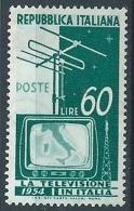 1954 ITALIA TELEVISIONE 60 LIRE MNH ** - W8-3 - 6. 1946-.. Repubblica
