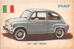 "02735 ""FIAT 600 BERLINA"" AUTO - CAR - FIGURINA ORIGINALE - ORIGINAL TRADING CARD. SIDAM - TORINO. 1961 - Motori"