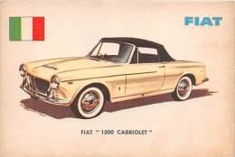 """02736 """"FIAT  1500 CABRIOLET"""" AUTO - CAR - FIGURINA ORIGINALE - ORIGINAL TRADING CARD. SIDAM - TORINO. 1961 - Motori"""