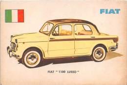 "02737 ""FIAT  1100 LUSSO BERLINA"" AUTO - CAR - FIGURINA ORIGINALE - ORIGINAL TRADING CARD. SIDAM - TORINO. 1961 - Motori"