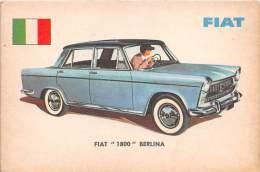 "02738 ""FIAT  1800  BERLINA"" AUTO - CAR - FIGURINA ORIGINALE - ORIGINAL TRADING CARD. SIDAM - TORINO. 1961 - Motori"