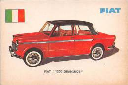 "02739 ""FIAT  1200  GRAN LUCE BERLINA"" AUTO - CAR - FIGURINA ORIGINALE - ORIGINAL TRADING CARD. SIDAM - TORINO. 1961 - Motori"