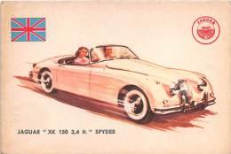 "02744 ""JAGUAR XK 150 3,4 LT  SPIDER"" AUTO - CAR - FIGURINA ORIGINALE - ORIGINAL TRADING CARD. SIDAM - TORINO. 1961 - Motori"