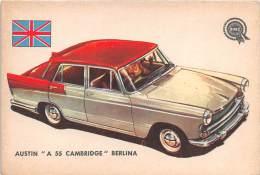 "02745 ""AUSTIN A 55 CAMBRIDGE BERLINA"" AUTO - CAR - FIGURINA ORIGINALE - ORIGINAL TRADING CARD. SIDAM - TORINO. 1961 - Motori"