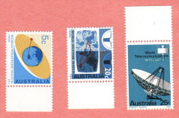 AUS SC #431-3 MNH  1968 Satellites, CV $5.00 - 1966-79 Elizabeth II