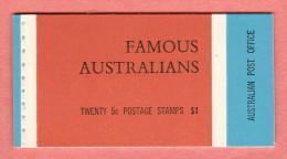 AUS SC #446a-9a MNH Panes/5 In Bklt  1968 Famous Australians, CV $19.00 - 1966-79 Elizabeth II