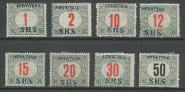 Jugoslawien / Yugoslavia / Yougoslavie - Mi.Porto 27/34 Complete Set In Good Condition - Mint /  *1918 - Michel: 320€ - Portomarken