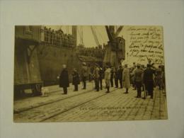 BOUCHES DU RHONE-LES TROUPES RUSSES A MARSEILLE-20 AVRIL 1916-SALUT A L´HYMNE RUSSE ET A LA MARSEILLAISE-ANIMEE - Vieux Port, Saint Victor, Le Panier