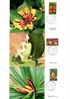 Fleurs De Nouvelle-Calédonie 1964. Ixora,Deplanchea,Freycineta. 3 Belles Cartes 1er Jour. - Pflanzen Und Botanik