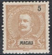 MACAU 1898  D. CARLOS I  5 AVOS - Macao