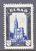 GERMANY   LOST COLONIES  MOURNING LABEL  ELSASS  * - Germany