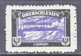LOST COLONIES   MOURNING LABEL   OBERSCHLESIEN    ** - Unused Stamps