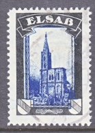 GERMANY   LOST COLONIES    MOURNING LABEL   ELSASS  (o) - Germany