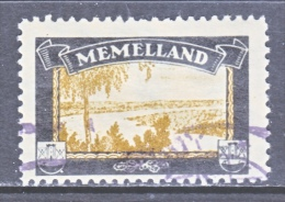 GERMANY   LOST COLONIES    MOURNING LABEL   MEMELLAND    (o) - Germany