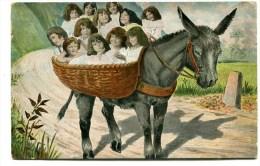 CPA  Fantaisie : Enfants Avec âne     1904     VOIR  DESCRIPTIF  §§§ - Babies