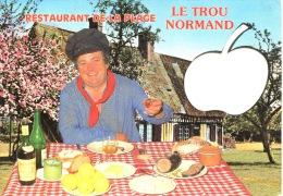 Villers Sur Mer : Restaurant De La Plage Bar Brasserie : Le Trou Normand (ed Artaud) Silhouette Pomme Folklore - Villers Sur Mer