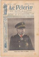 LE PELERIN  9 Avril 1916 .- L' Amiral LACAZE  Ministre De La Marine - 1900 - 1949