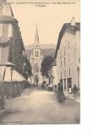 73  -  ALBERTVILLE  -  La  Rue  Gambetta  ,  L ' Eglise    (  Animée  ) - Albertville