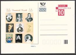 Czech Rep. / Postal Stat. (Pre2009/29) Frantisek Kozik (1909-1997) Czech Writer; Comenius, Janacek, Karel IV., ... - Autres