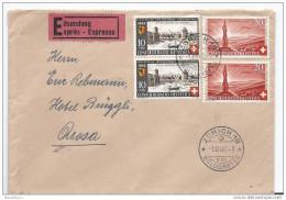 19922 - Enveloppe Exprès Avec Timbre Pro Patria 1922 Envoyée De Zürich 1.8.42. - Superbe Cachet à Date - Storia Postale