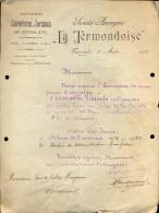 Facture Faktuur - Brief Lettre - Couvertures De Coton - La Termondoise - Dendermonde 1922 - Otros