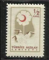 TURCHIA - TURKÍA - TURKEY 1957 POSTAL TAX SEGNATASSE FLOWER FIORE 1/2 K MNH - 1921-... République