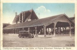 01 - CHATILLON-SUR-CHALARONNE - Ain - Les Halles Et L'Église - Monument Historique XIe Siècle - Châtillon-sur-Chalaronne
