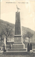 01 - BÉNONCES - Ain - Vue Du Monument Aux Morts - Autres Communes