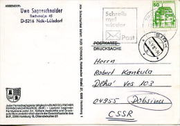 Fausse Direction,redistribution , Flamme Ilustrée POST-lettre,fausse Direction Tchecoslovaquie,cachet Poste SIRK 4.5.82 - Post