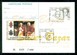 INTERO POSTALE - INTERI POSTALI - CARTOLINA POSTALE - IPZS - I.P.Z.S-CONCESIO-PAPI-PAOLO VI°-ANNO SANTO-GIUBILEO - Interi Postali