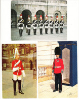 6 Postcards :  GUARDS In London - England - Politie-Rijkswacht