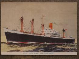 ROYAL MAIL LINE LOCH RYAN ART CARD, OFFICIAL UNUSED - Cargos