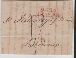 Nlc015/- NIEDERLANDE -  Almelo 1819 Nach Bordeaux Via Valenciene. Brief Mit Textinhalt. - ...-1852 Vorläufer