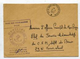Lettre Avec Cachet Brest-Sous-Marins-Marine. - Postmark Collection (Covers)