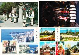 4 Postcards :  GUARDS In MONACO (France), ANNAPOLIS (USA), ISTANBUL (Turkeye) & ATHENS (Greece) - Politie-Rijkswacht