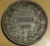 2 FRANCS BELGE 1909(1) - 1865-1909: Leopold II