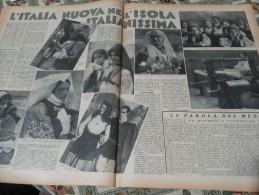 DOMENICA DEL CORRIERE 1937 OLLOLAI DESULO CABRAS - Libri, Riviste, Fumetti