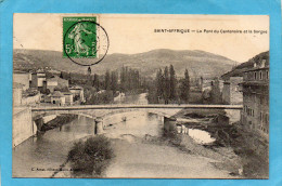 Saint Afrique -le Pont Du Centenaire Et La Sorgue--a Voyagé En 1912 - Saint Affrique