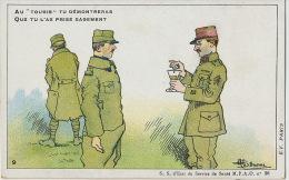 Malaria Paludism Antipaludenne Guerre 1914 WWI By Guillaume No 26 Quinine Medecin Militaire - Santé