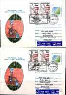 Rugby - World Cup 1995 -Semifinal Games Special Cancelation In Romania - 2 Runned Cover To The UK - Rugby