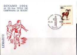 Rugby - Club Rugby Champion Of Romania - Dinamo - Special Cancelation Cover - Rugby