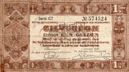 Netherland,Zilverbon 1gulden 1938,Serie:GT,P.61,as Scan - [2] 1815-… : Koninkrijk Der Verenigde Nederlanden