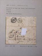 Lettre Purifiée / DISINFECTED Cover / Sanita / Cholera : 1839 Alger à Marseille - Old Paper