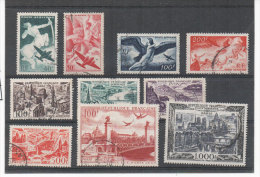 10 Timbres De France Poste Aérienne Oblitérés - Yvert N° PA 16,17, 18, 19, 24, 25, 26, 27, 28  (74112) - 1927-1959 Oblitérés